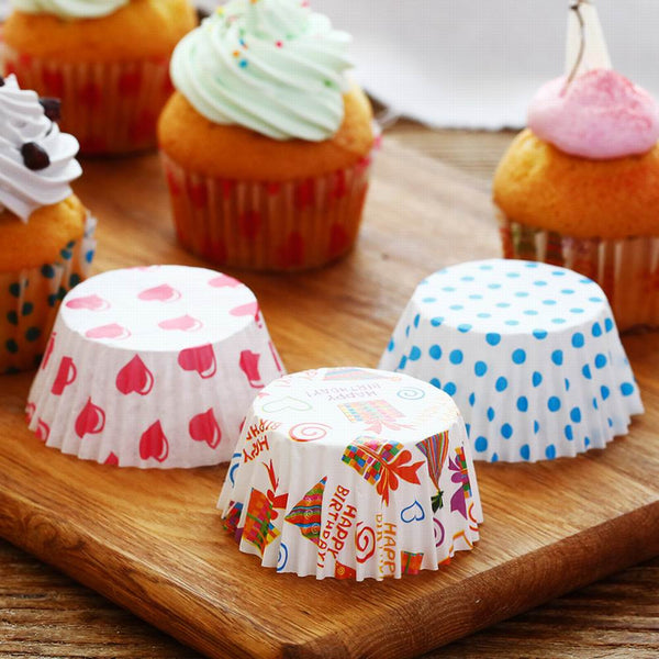 Colorful Rainbow Paper Liner Cup for Cupcake Decorating Tools