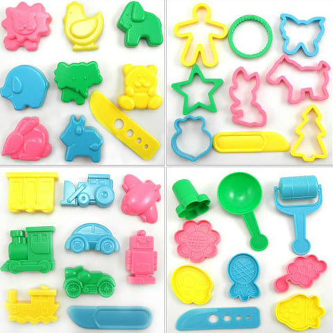 3D Plasticine Tools Play dough Toy Set for Kids