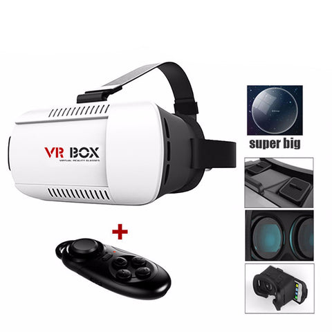 2.0 Version Virtual Reality 3D Glasses+Wireless Remote Control Gamepad