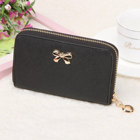 Korean Leather Wallet w/ zipper