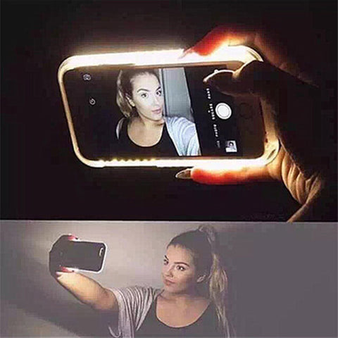 Luxury led selfie Phone Case Cover For iPhone