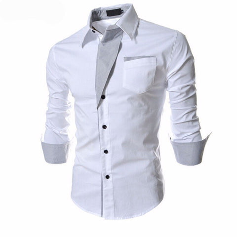 Casual Slim Fit Long-Sleeved for Men