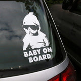 Baby On Board Warning Vinyl Sticker Automobile Accessories