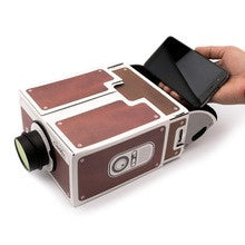 Cardboard Mobile Phone Projector
