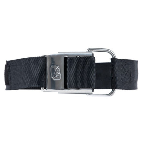 Dive Rite Cam Strap - Roller Buckle BCD Accessory / Black / Chrome