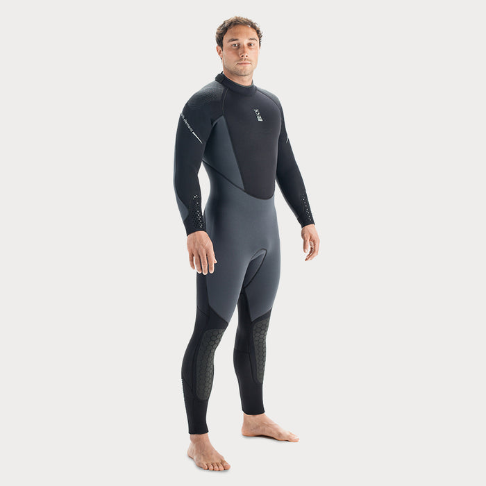 Fourth Element Helios 7mm Wetsuit / Gray / Black / M - Dive Toy