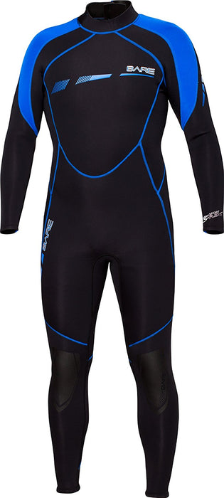 Bare 3/2mm Sport S-Flex Wet Suits Mens / Black / S - Dive Toy