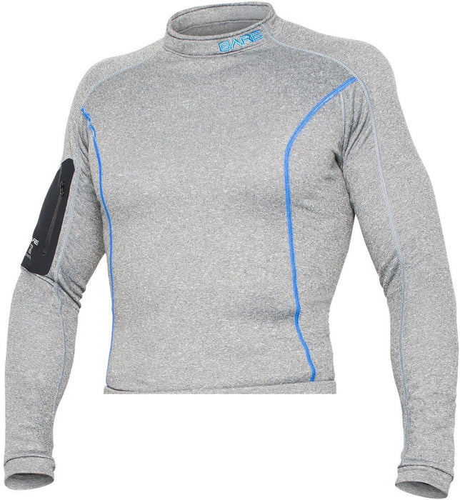Bare SB System Base Layer Top Undergarment / Gray / Blue / ML/MG - Dive Toy