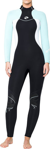 Bare 5mm Nixie Full Wetsuit / Glacier Blue / Black / 6