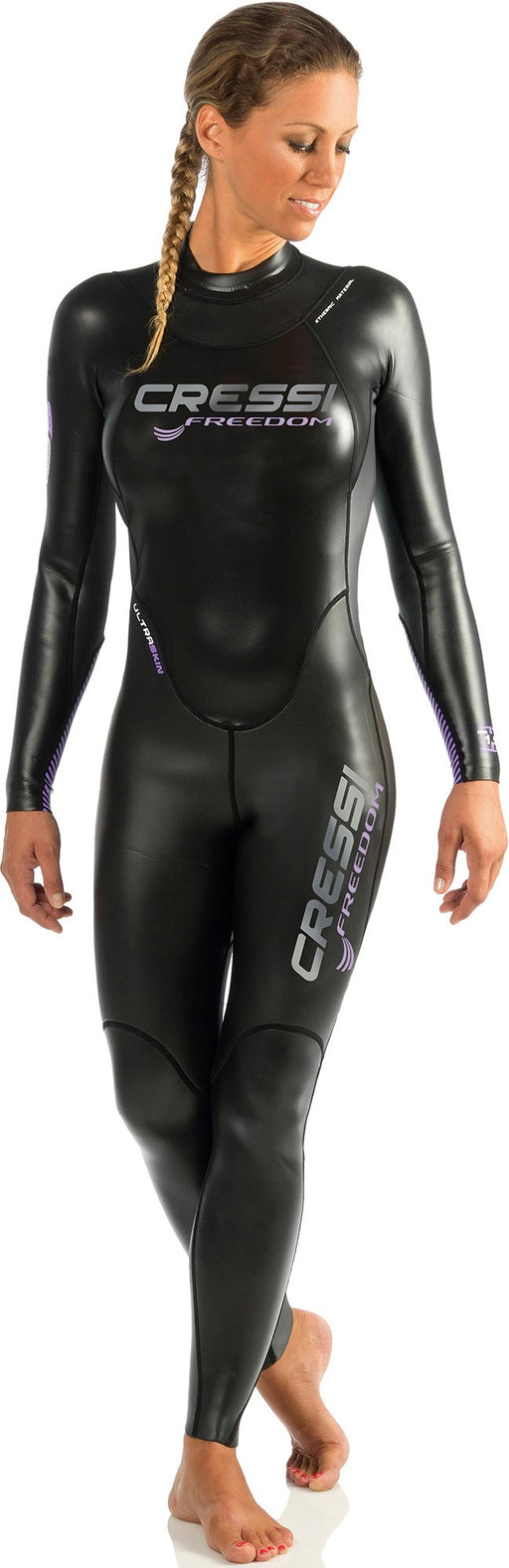 Cressi FREEDOM ALL-IN-ONE LADY - 1.5mm Wetsuit / Purple / Black / L