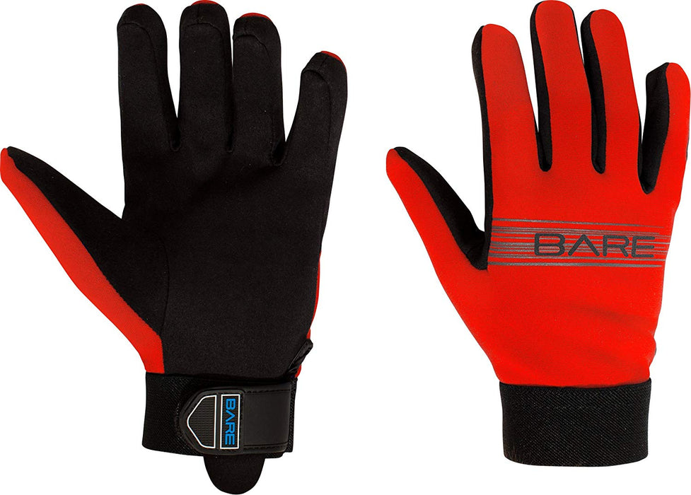 Bare 2mm Tropic Sport Gloves / Red / XS