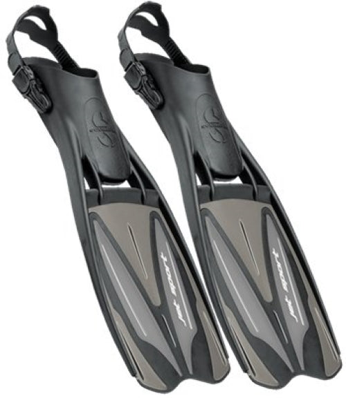 Scubapro Jet Sport (Full Foot) Fins / Black / Graphite / L
