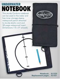 Innovative Replacement Pages (Underwater Notebook) Log Books / White