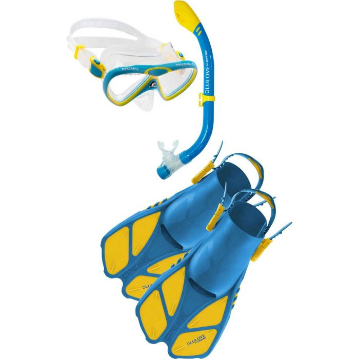 Cressi Mini Bonete MFS Set Fins / Blue / Yellow / L/XL - Dive Toy