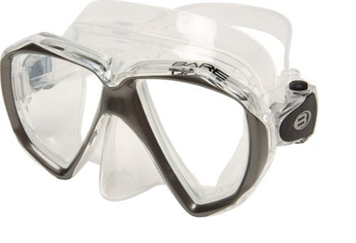 Bare Duo C Mask / Titanium / Clear - Dive Toy