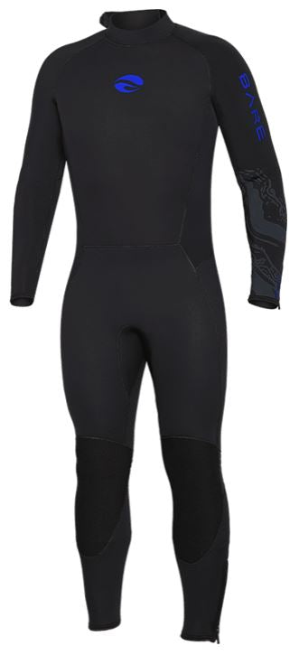 Bare 5mm Velocity Full Wetsuit / Blue / Black / 40L