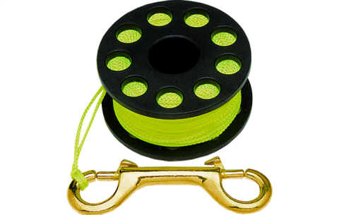 Innovative Finger Spool 100' Reels / Yellow