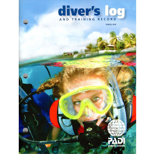 PADI Diver's Blue Logbook and Training Record Educational Materials