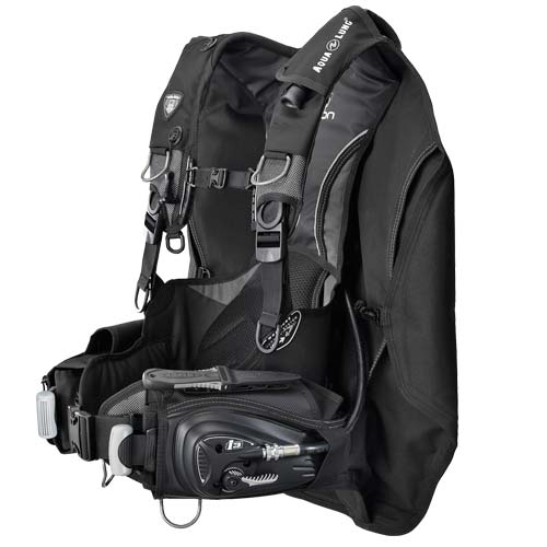 Aqua Lung Dimension i3 BCD / Charcoal / Black / ML - Dive Toy