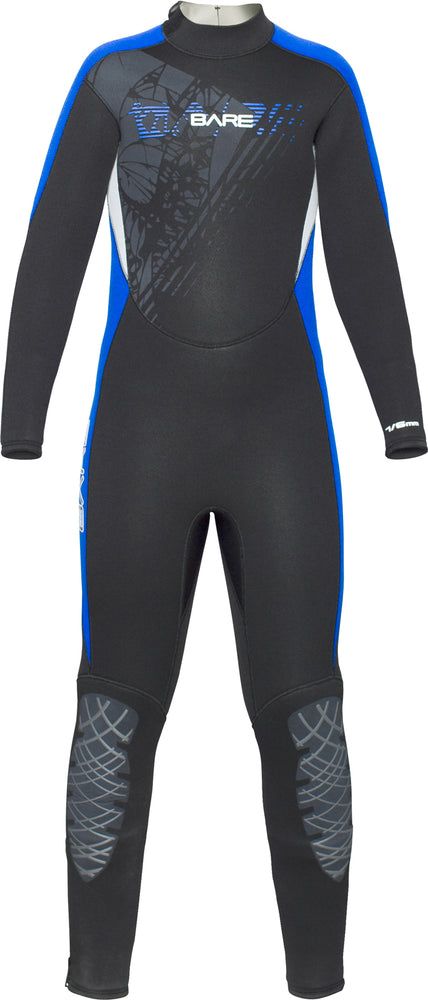 Bare 5/4mm Manta Wetsuit / Blue / Black / Youth 8