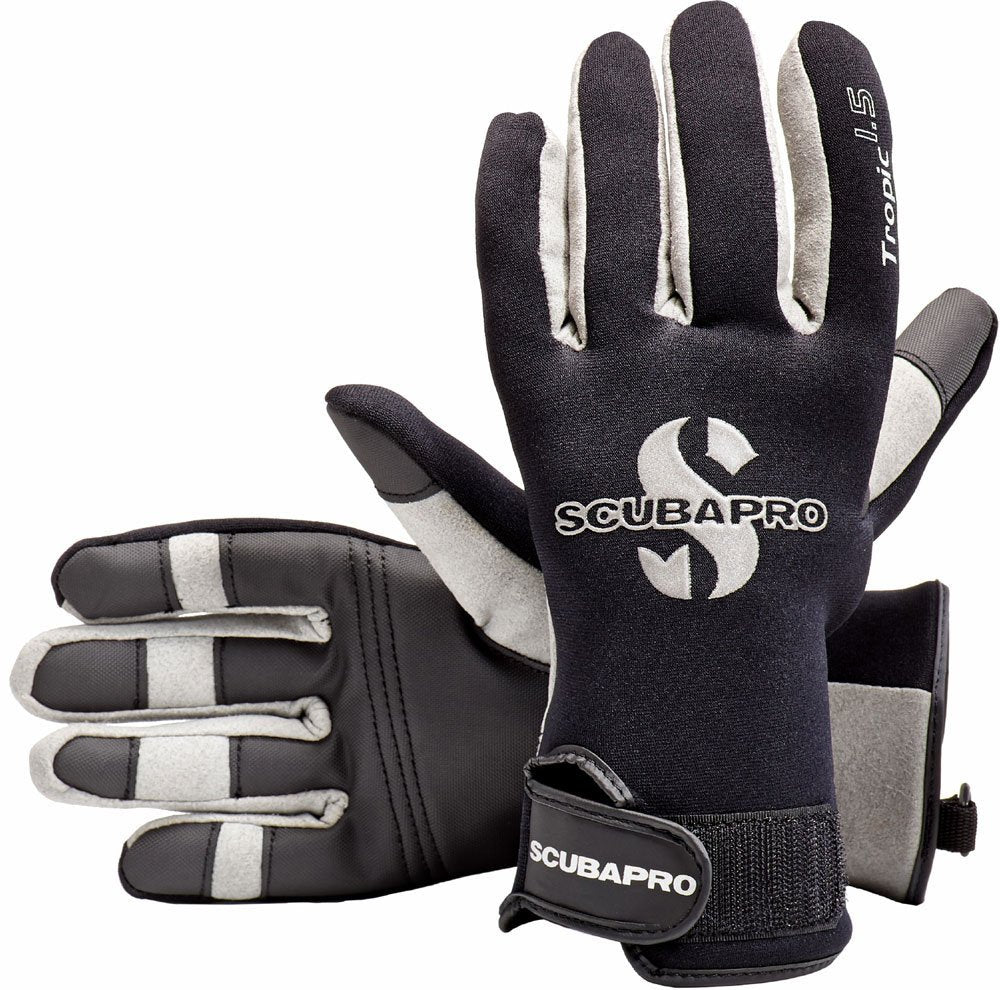 ScubaPro Tropic 1.5mm Gloves / Black / Gray / XL