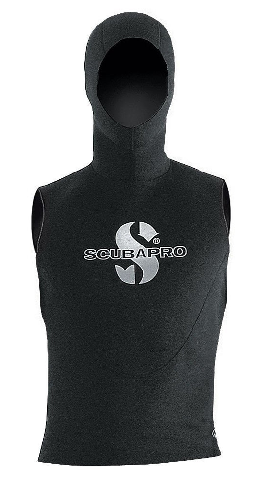 Scubapro Hooded Vest 5mm Wetsuit / Black / 3XL