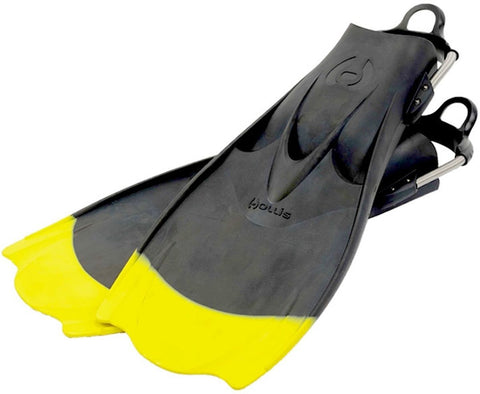 Hollis F-1 Yellow Tip ''Bat Fin'' Fins / Yellow / Black / R