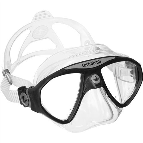 Aqua Lung MicroMask Double Lens Dive Mask (Black)