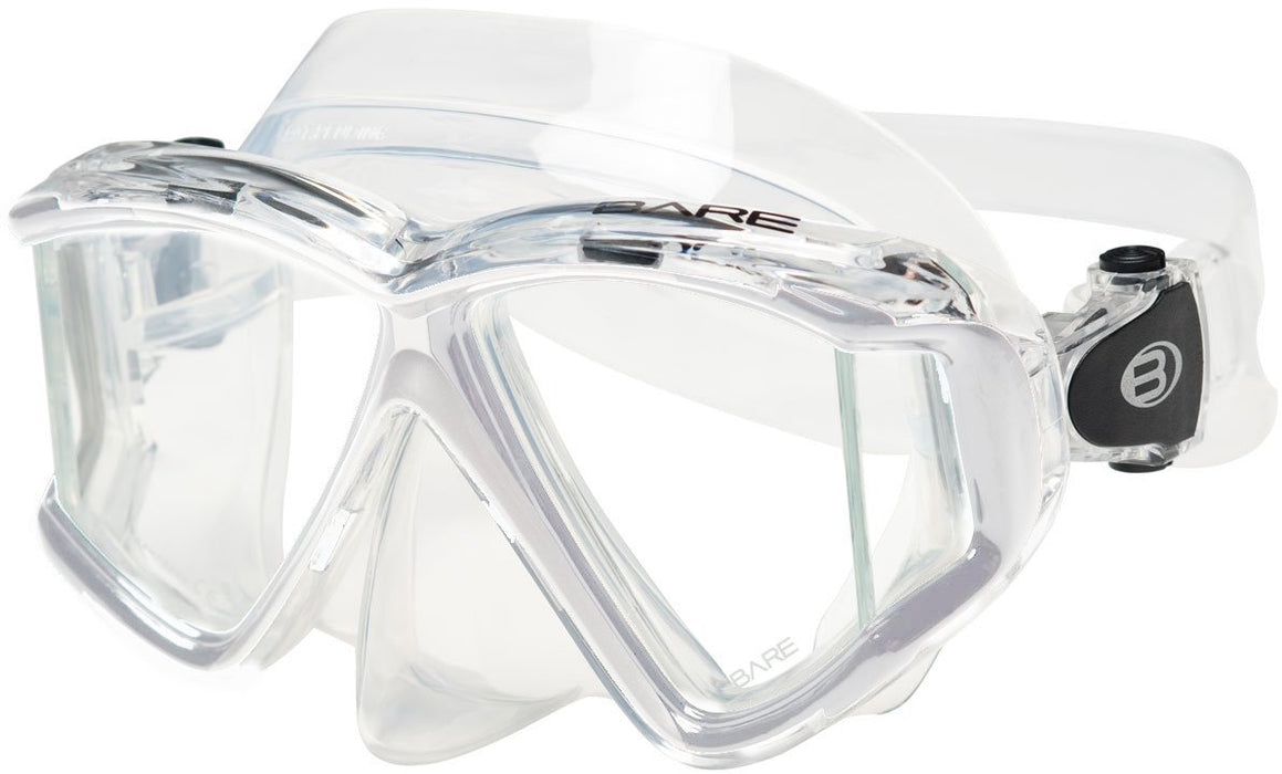 Bare Quad C Mask / Clear / Clear - Dive Toy