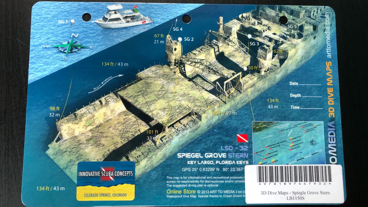 Art To Media 3D Dive Maps - Spiegle Grove Bow Accessories