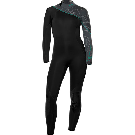 Bare 3/2mm Elate Full-Womens Wetsuit / Grey / 4
