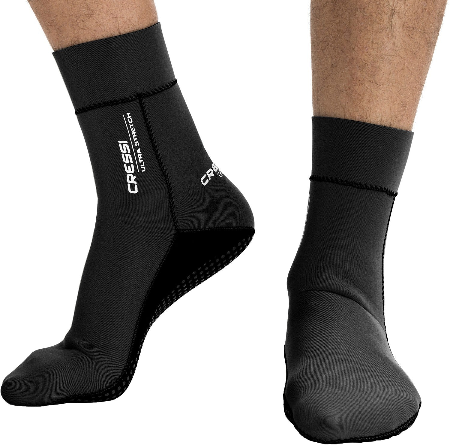 Cressi Ultra Stretch Neoprene 1.5mm Sock / Black / Black / M