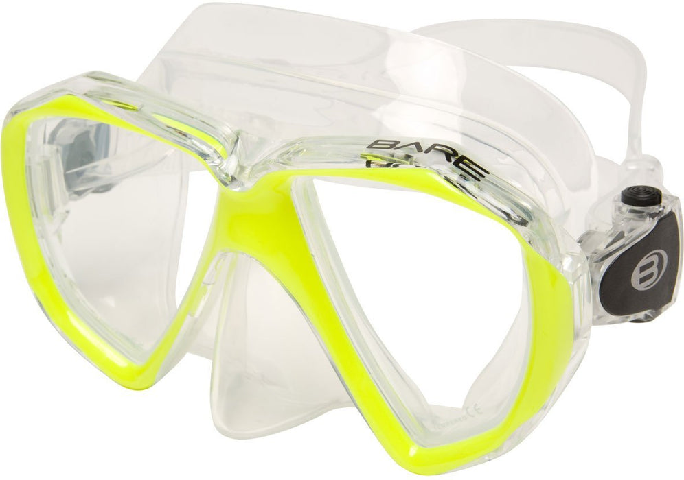 Bare Duo C Mask / Yellow / Clear - Dive Toy