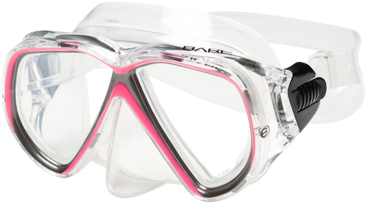 Bare Duo Compact Mask / Pink / Clear - Dive Toy