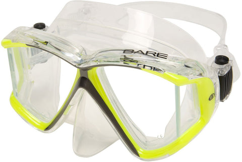 Bare Trio C Mask / Yellow / Clear