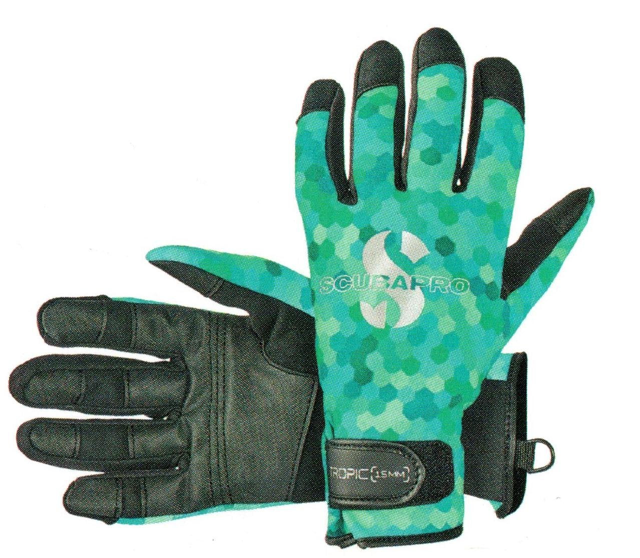 Scubapro Tropic 1.5mm Gloves / Teal / XL
