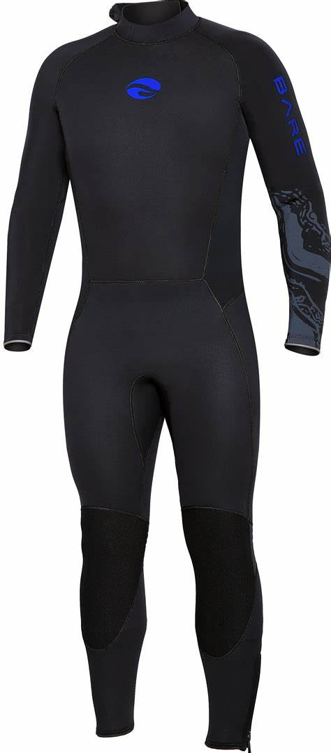 Bare 3mm Velocity Ultra Wetsuit / Blue / Black / L