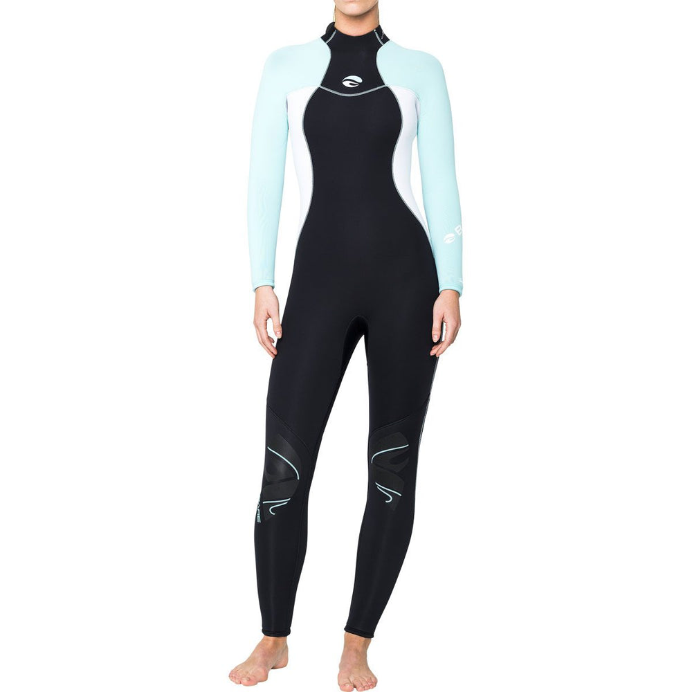 Bare 3/2mm Nixie Wetsuit / Glacier Blue / Black / 12