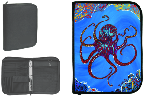 Innovative 3-Ring Binder Log Book w/Inserts - Octopus Log Books