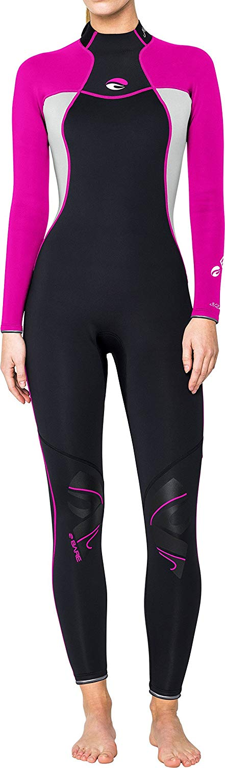 Bare 3/2mm Nixie Full Wetsuit / Pink / Black / 14