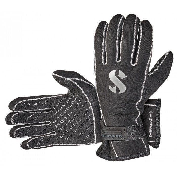 Scubapro Everflex 3mm Gloves / Black / M
