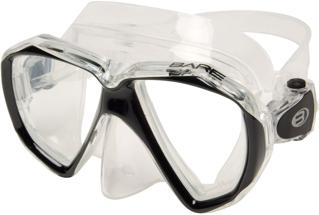 Bare Duo C Mask / Black / Clear - Dive Toy