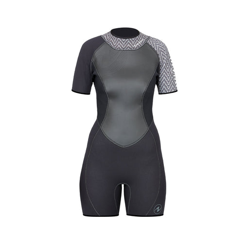 Aqua Lung Hydroflex 2mm Shorty Wetsuit Women / Gray / Black / 8