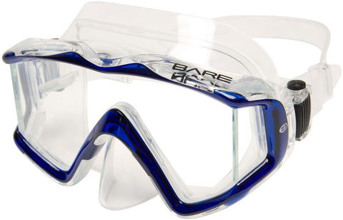 Bare Trio C Mask / Blue / Clear