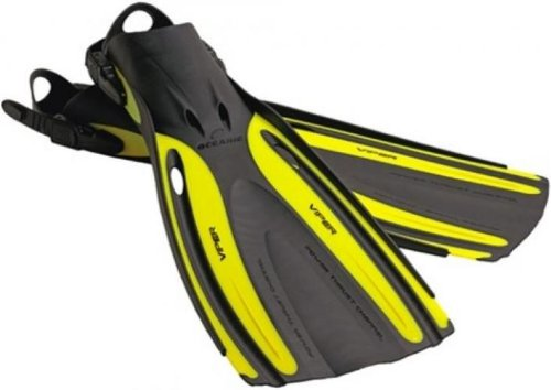 Oceanic Viper OH Fins / Yellow / R