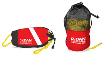 DAN Throw Bag Wedge Accessories / Red / White - Dive Toy