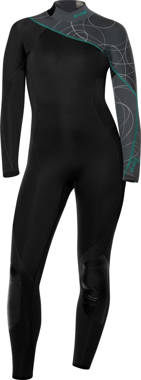 Bare 3/2mm Elate Full-Womens Wetsuit / Grey / 12