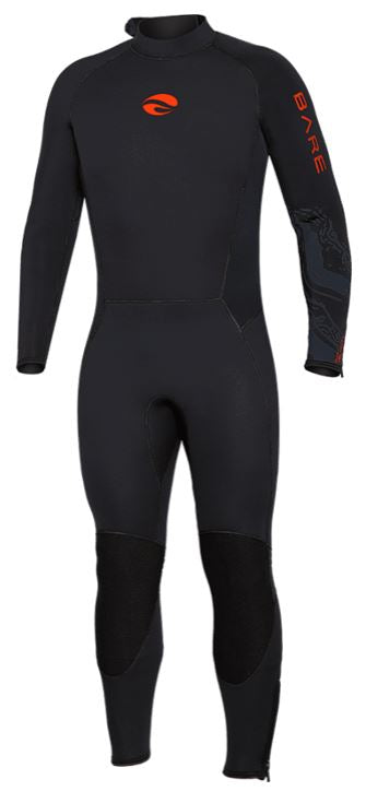 Bare 5mm Velocity Full Wetsuit / Red / Black / 2XL
