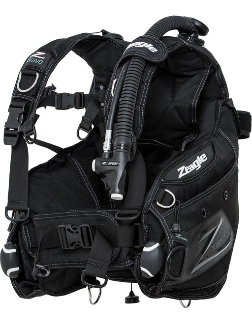 Zeagle Bravo w/Inflator, Hose, and RE Valve BCD / Black / M