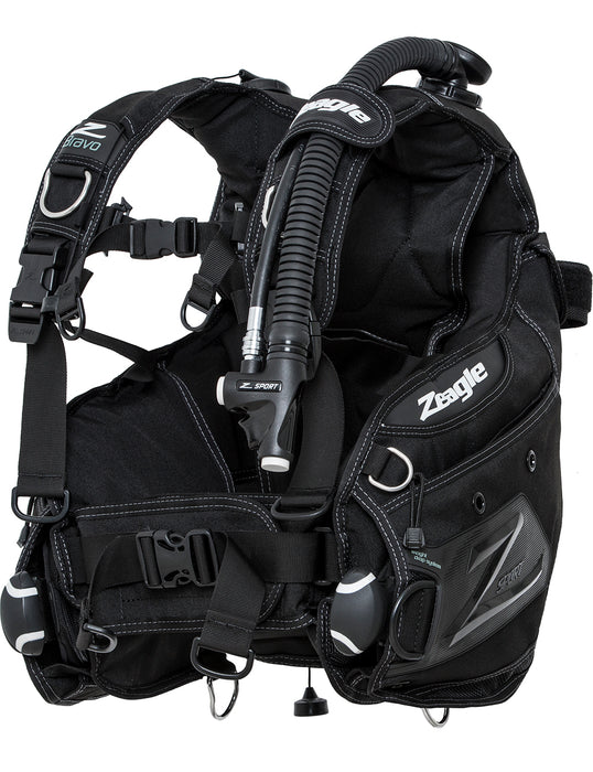 Zeagle Bravo, w/Inflator, Hose and RE Valve BCD / Black / White / S